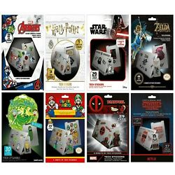 New Laptop Tech Stickers 5 Pack Star Wars Avengers Rick & Morty Super Mario UK