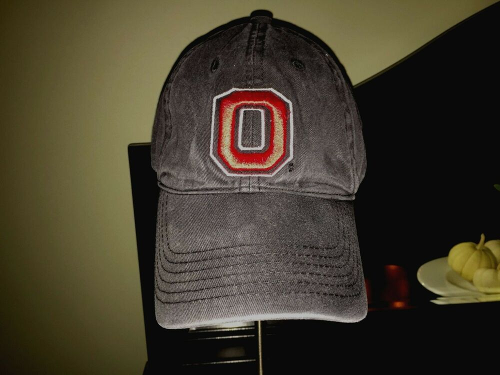 separation shoes 2d8ff f1215 Details about Ohio State University Buckeyes Football Hat OSU Fitted Large Block  O