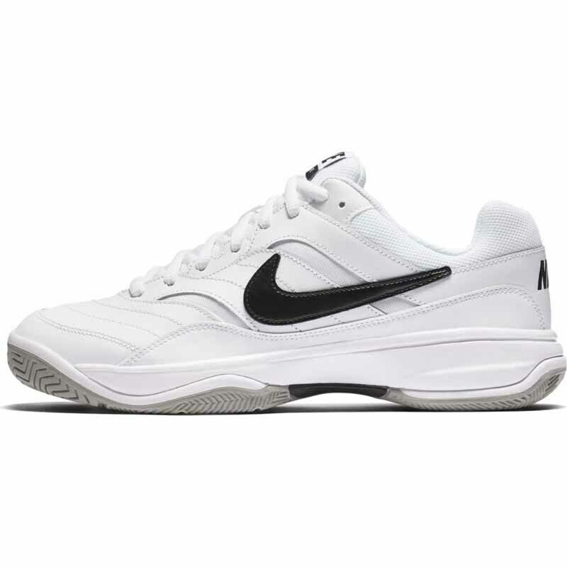 the best attitude 8b8ee a41a2 Nike Mens Court Lite Tennis Shoes White Black Medium Grey 845021-100 ...