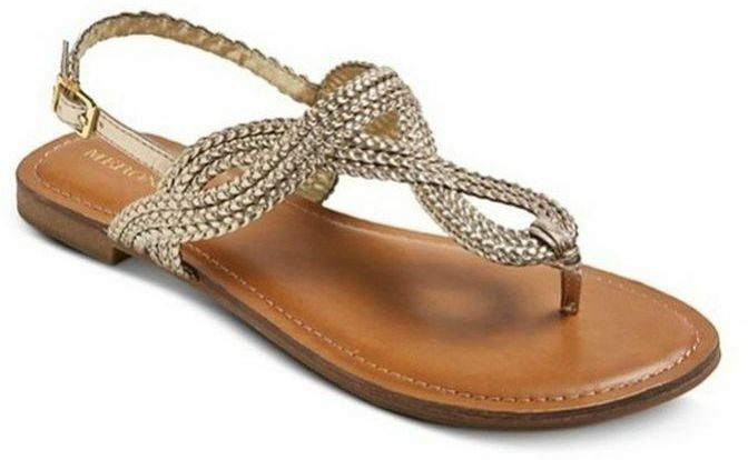 28ff24168b618d Details about NEW Merona Jana Thong Gladiator Braided Sandal Slingback -  Various Sizes Colors!