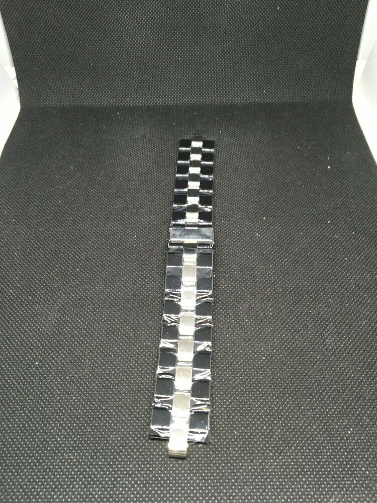 891de3ce3e046 Details about Marc Jacobs MBM Stainless Black Bracelet Watch Band 6 & 20mm  I511