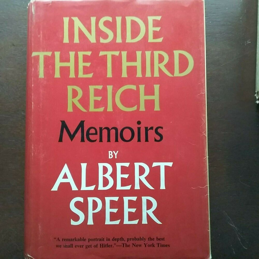 "Details about ""Inside the Third Reich: Memoirs"" by Albert Speer 1970  1st/1st HC/DJ. """