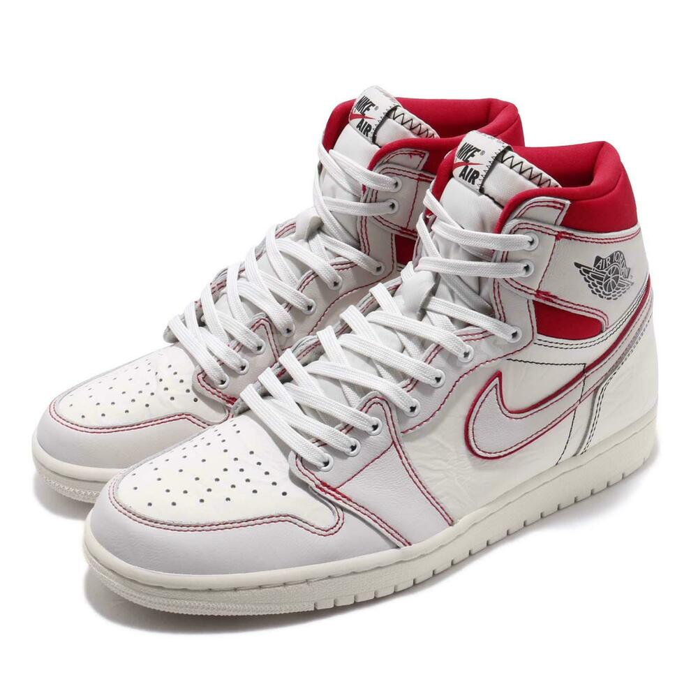 competitive price 9b59e 259fb Nike Air Jordan 1 Retro High OG Phantom Sail Red AJ1 Sneakers 555088-160    eBay