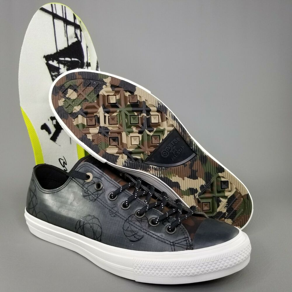 f2bbbc6995fb Details about Converse x Futura CTAS II Ox Rubber Pack Shoes Size 11 Mens  Sneakers Black Camo