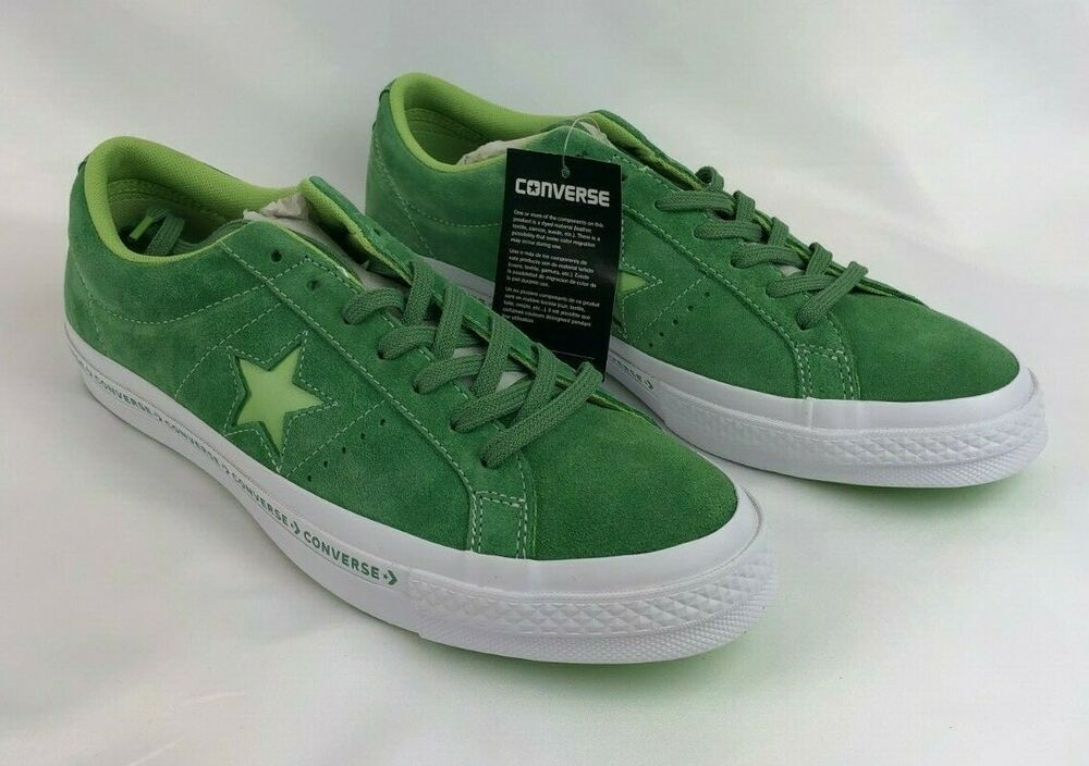 c28df10758e8aa Converse One Star Pinstripe Ox Mens Multi Size Mint Green Lime 159816C