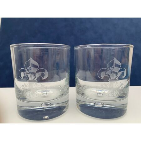 img-Regimental Crest Engraved Personalized, Pair of Whisky Glasses- in cardboard box