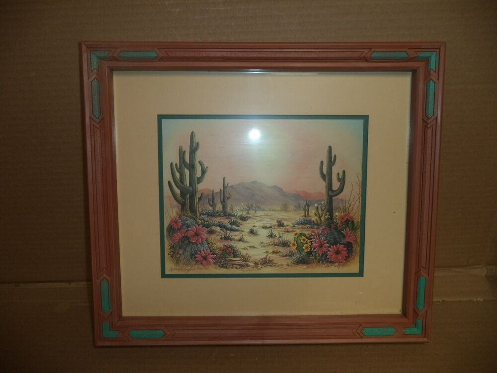 Details About Vintage Kathleen English Pitts Home Interior Framed And Matted Print Southwest