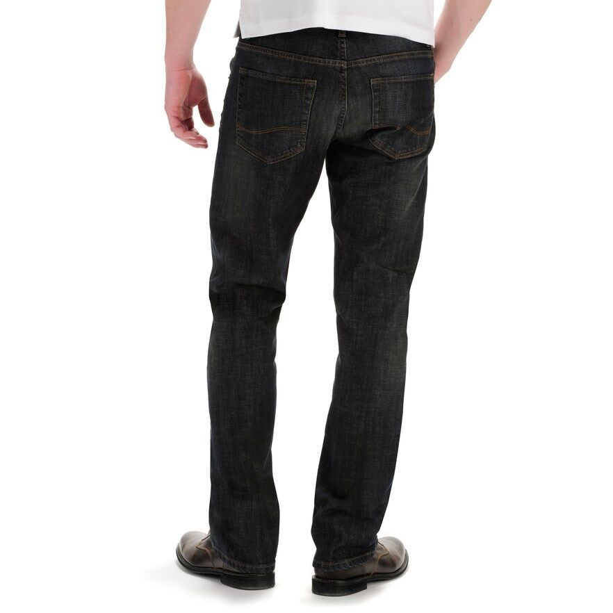 a21b0747 Details about NWT: Lee Modern Series Relaxed Straight Leg Jeans in Storm  Rider Sz: 54W 32L