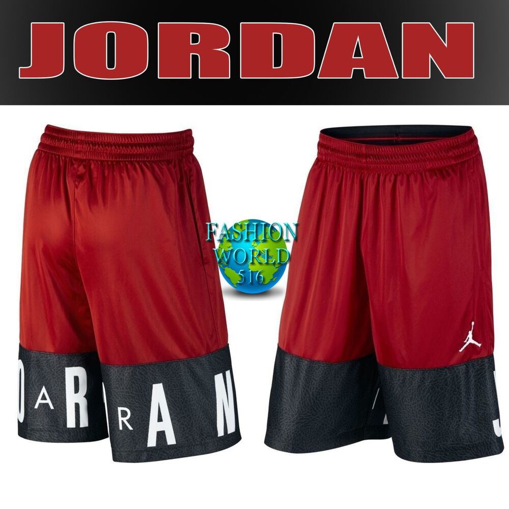 e1985223900a Details about NIKE MEN S SIZE LARGE AIR JORDAN BLOCKOUT BASKETBALL SHORTS  RED BLACK AJ6559