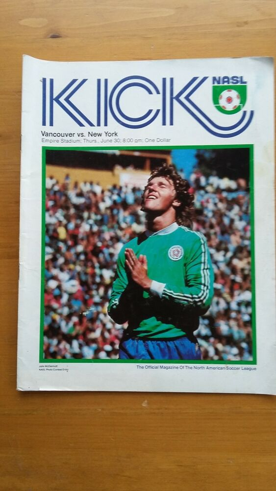 e7cfa66844d Details about PELE N.Y. COSMOS KICK NASL SOCCER GAME PROGRAM VANCOUVER VS. NEW  YORK JUNE 1977