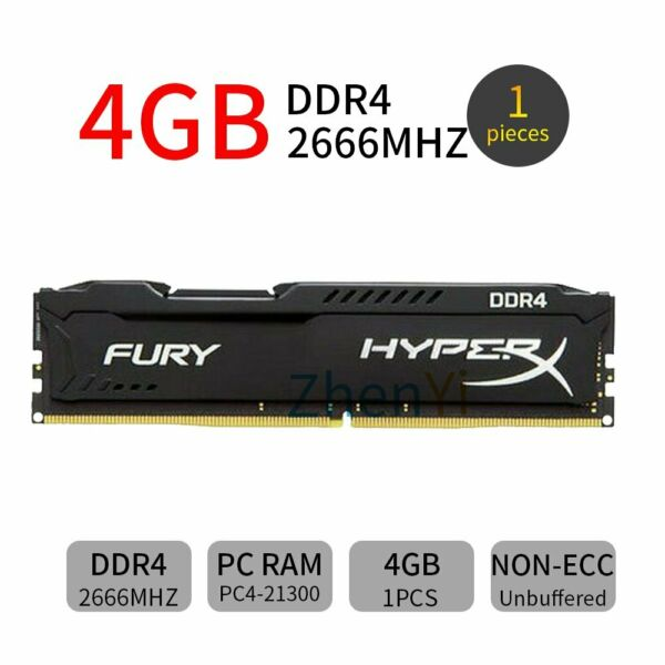 4GB DDR4 2666MHz PC4-21300 CL15 288Pin memoria RAM Desktop per HyperX Fury IT