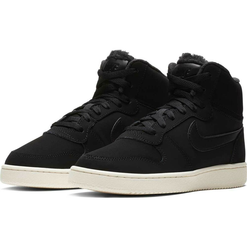 separation shoes c3864 f22b3 Details about Nike Ebernon Mid SE Sneakers Trainers Women s Shoes Black  High Top AV2478-001
