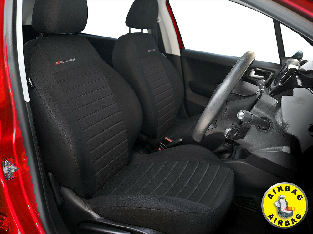 Car Seat Covers For Front Seats Fit Honda Jazz Charcoal Grey Pair