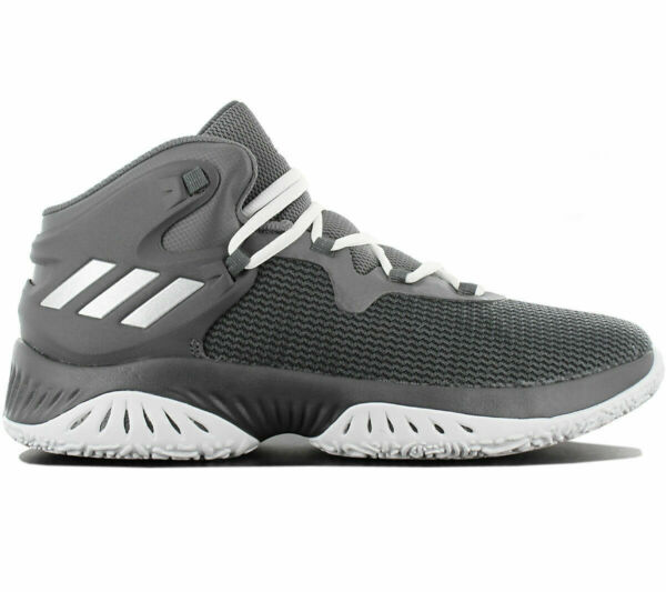 Adidas Men's Explosive Bounce Basketball MID Grey Shoes Trainers Various Sizes