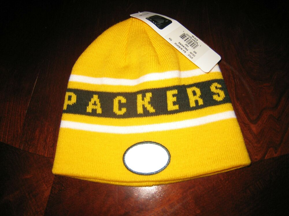 7d08a8f1cca GREEN BAY PACKERS NFL YOUTH (8-20) OSFM- YELLOW KNIT BEANIE HAT NEW!!!!