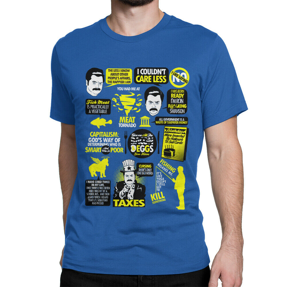 1db3942a Details about Parks And Recreation TV T-Shirt, Ron Swanson Quote Shirt,  Men's Tee