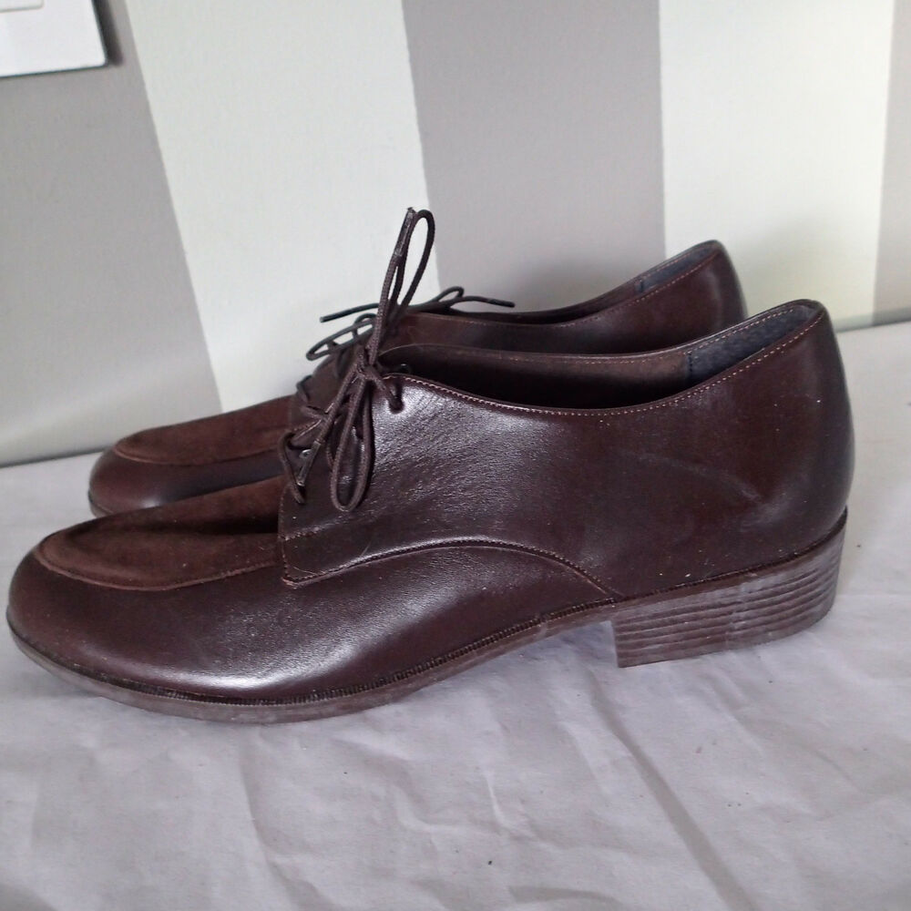 4599876581 munro slip on,leather ,fabric leather oxford shoes sz 11 n brown g   eBay