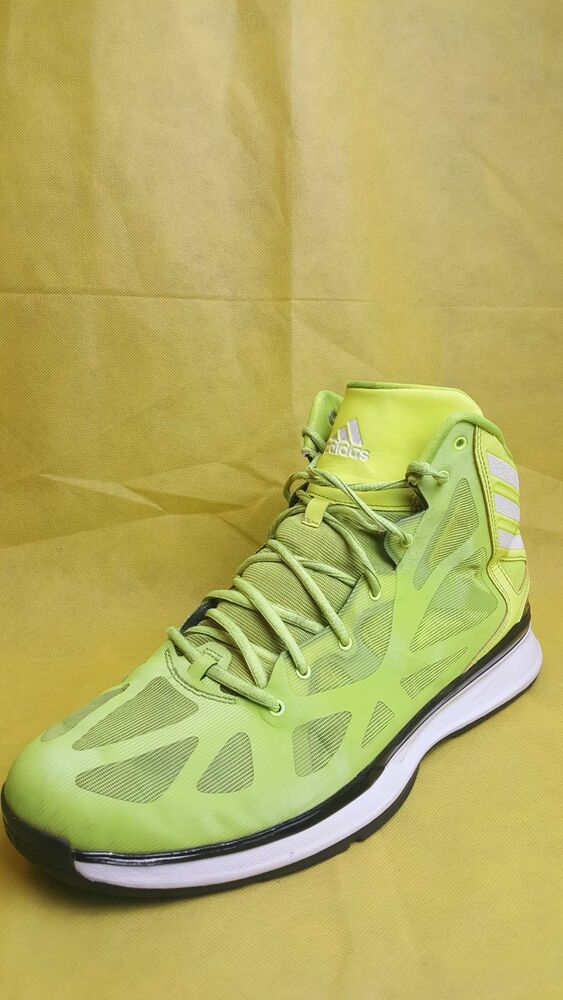 online store 2436b fac06 Details about Adidas Crazy Shadow 2 Neon Green Black Basketball Shoes Men s  (Size 13)