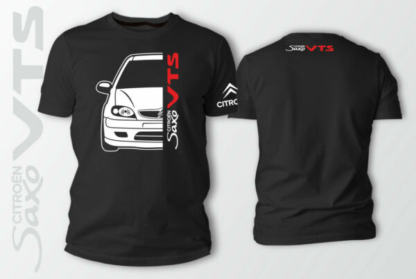Citroen Saxo Car Auto Black T-Shirt 100% Cotton XS-5XL