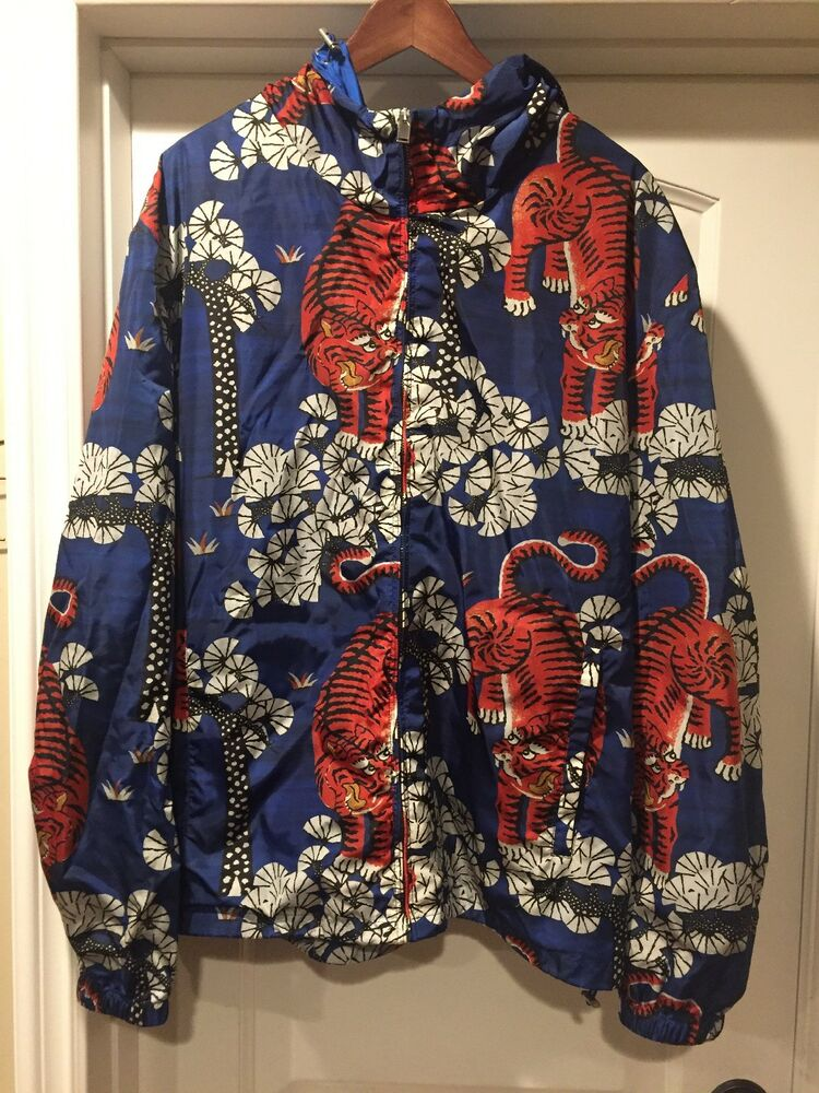 ae47ddd1418 Details about Gucci Bengal Tiger Windbreaker Jacket