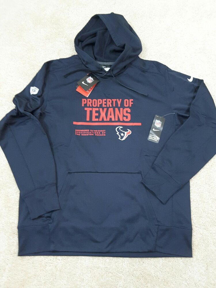 Discount Nike Therma FIT 2017 NFL Houston TX Circuit Property Of Hoodie  for cheap