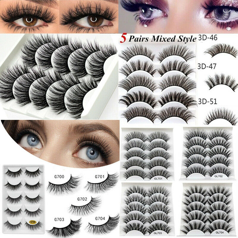 Beauty & Health Confident Natural Thick Long Soft Eye Lashes 2019 New 6 Styles 5 Pairs Mink Hair False Eyelashes Makeup Extension Tools