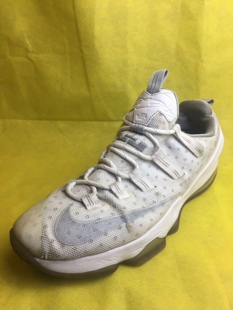 ef57cd84779 Details about Nike Lebron XIII Low White Metallic Silver Light Iron Shoes  Men s (Size 14)