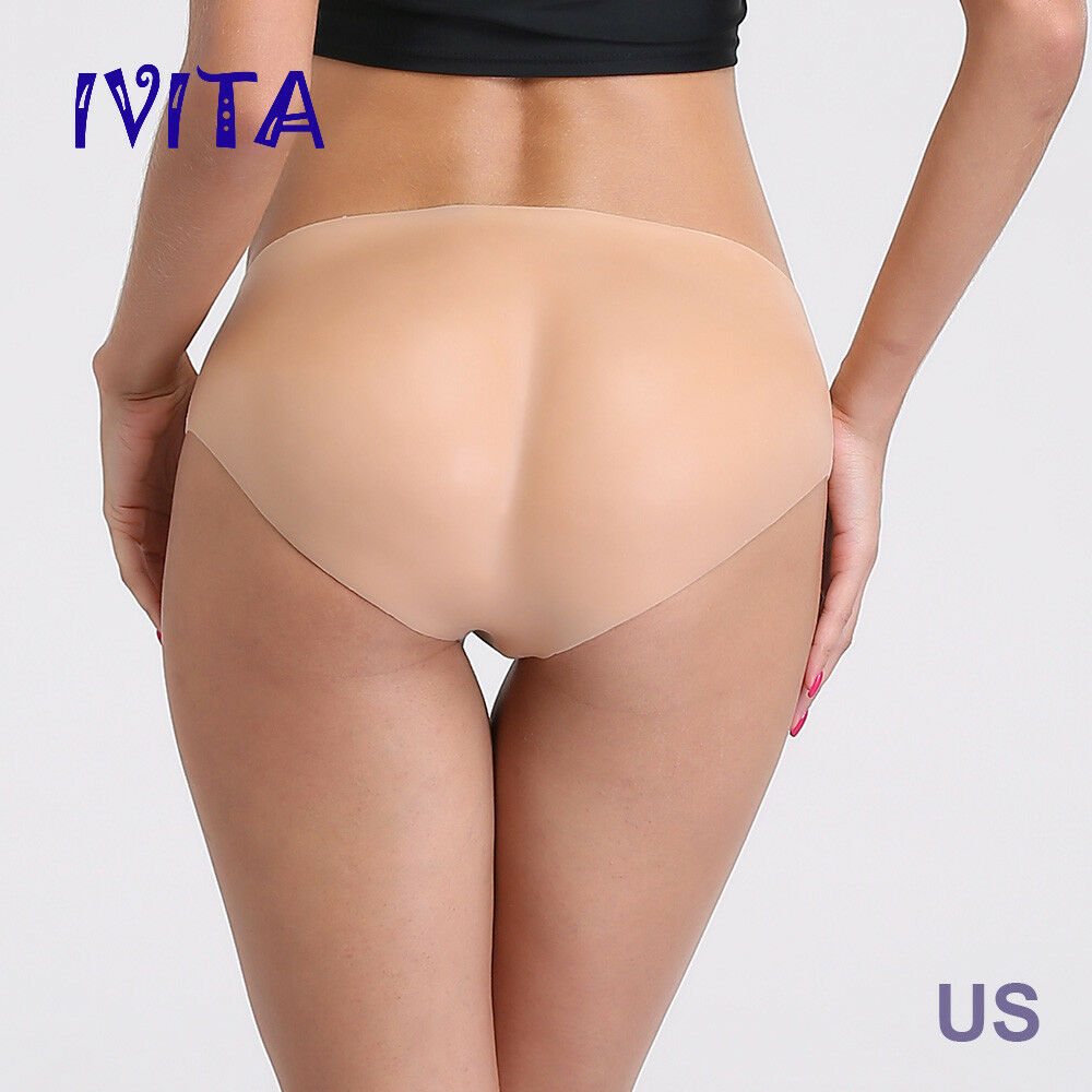 e7e3a0ef547 Details about IVITA Full Silicone Underwear Butt Enhancer Trangle Pant Body  Pads Shaper Wear