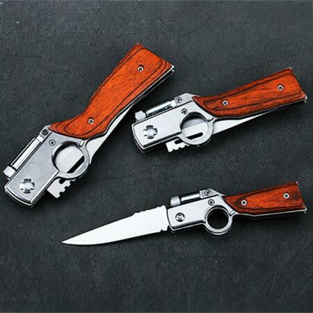 img-1PCS Waffenmesser Klappmesser Mit LED-Licht Tactical Survival Outdoor Multi Tool