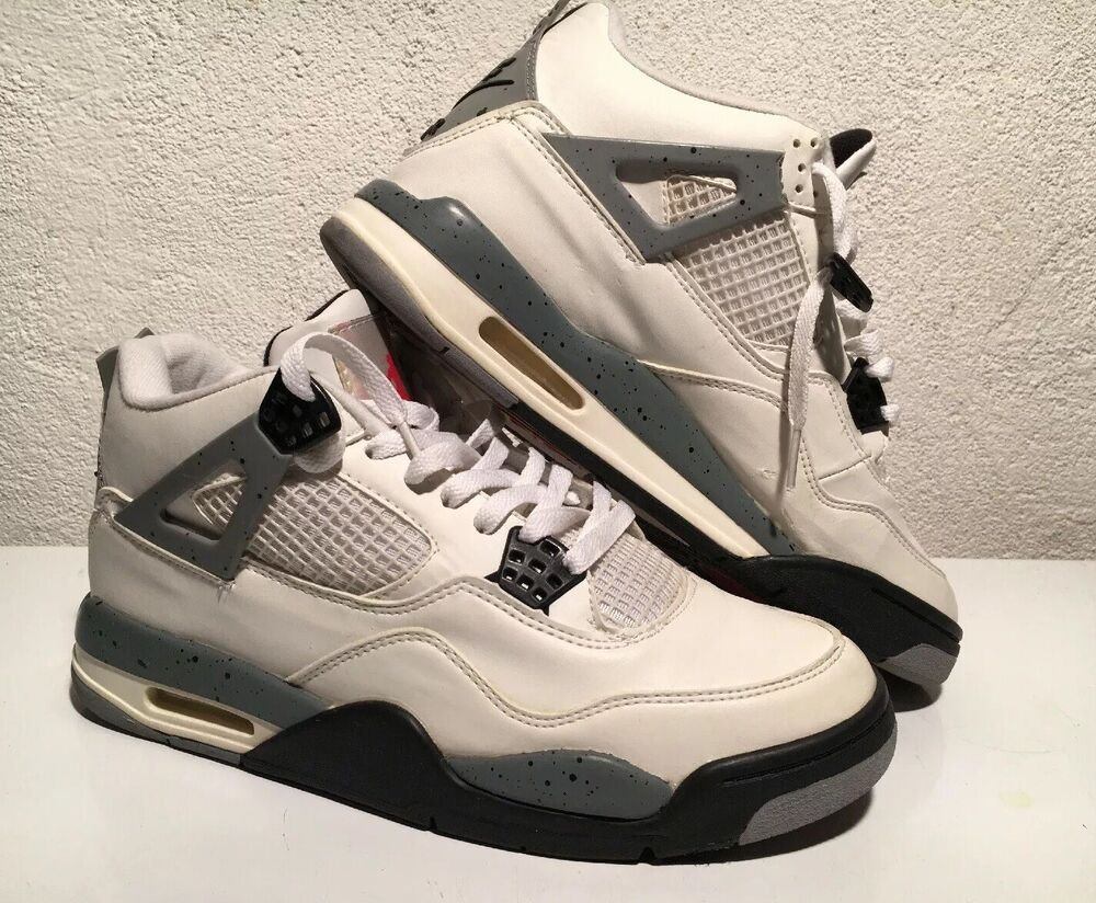 premium selection 78451 6788d Details about 1999 Nike Air Jordan Retro IV White Cement 136013 101 Size 10  Black Grey Bred XI