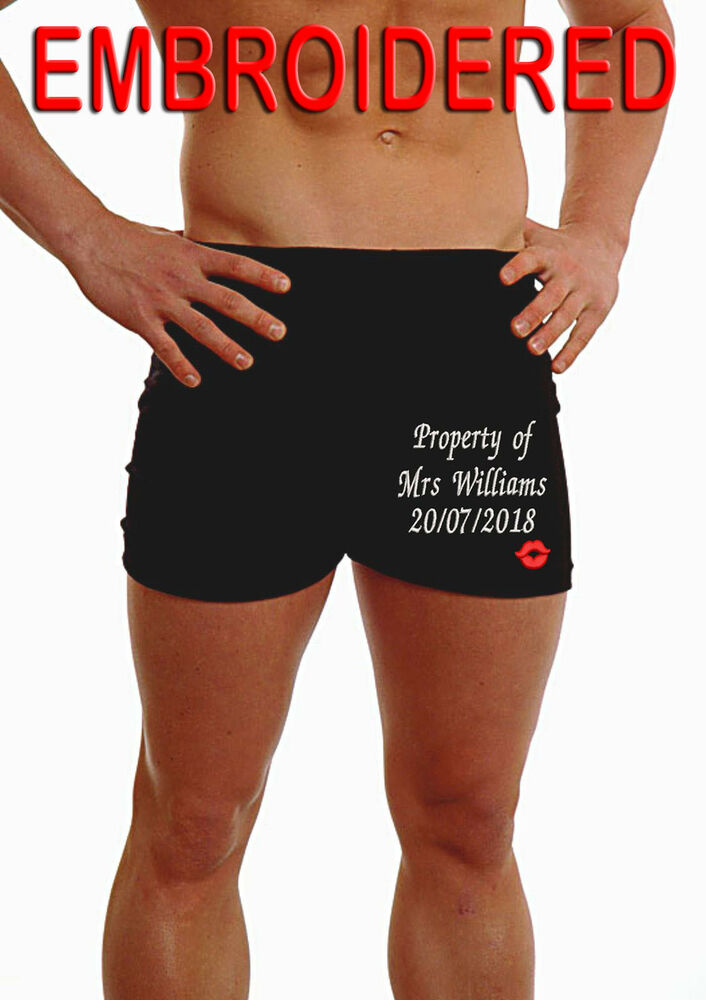 47edcbdcd Details about Personalised Mens Boxers Shorts Anniversary Wedding Underwear  KISS lips Gift Leg