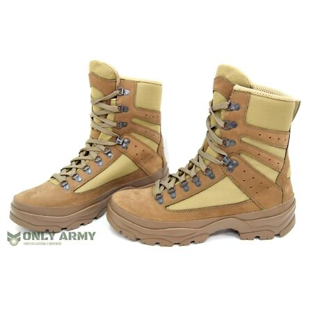 img-NEW Issue French Army Desert Combat Boots Nubuck Leather Like Meindl Lowa Boot