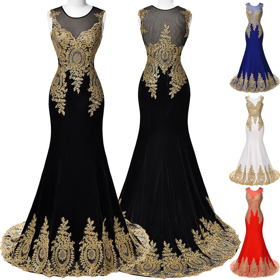 GOLD MERMAID Masquerade Wedding Evening Party Ball Gown