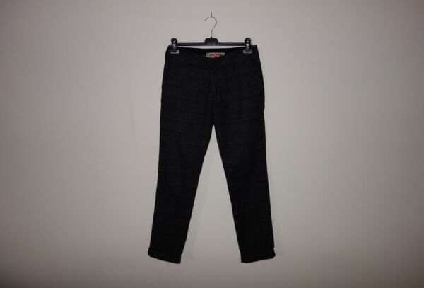 Cycle CHECKED Wool Skinny Pants Trousers Pantaloni 30(44 IT) Made in Italy, RARE