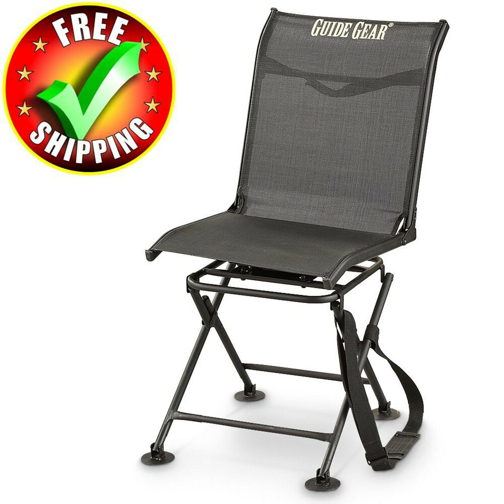 Details about Hunting Blind Chair Swivel 360 Degree Folding Travel Seat Stool C&ing New  sc 1 st  eBay & Hunting Blind Chair Swivel 360 Degree Folding Travel Seat Stool ...