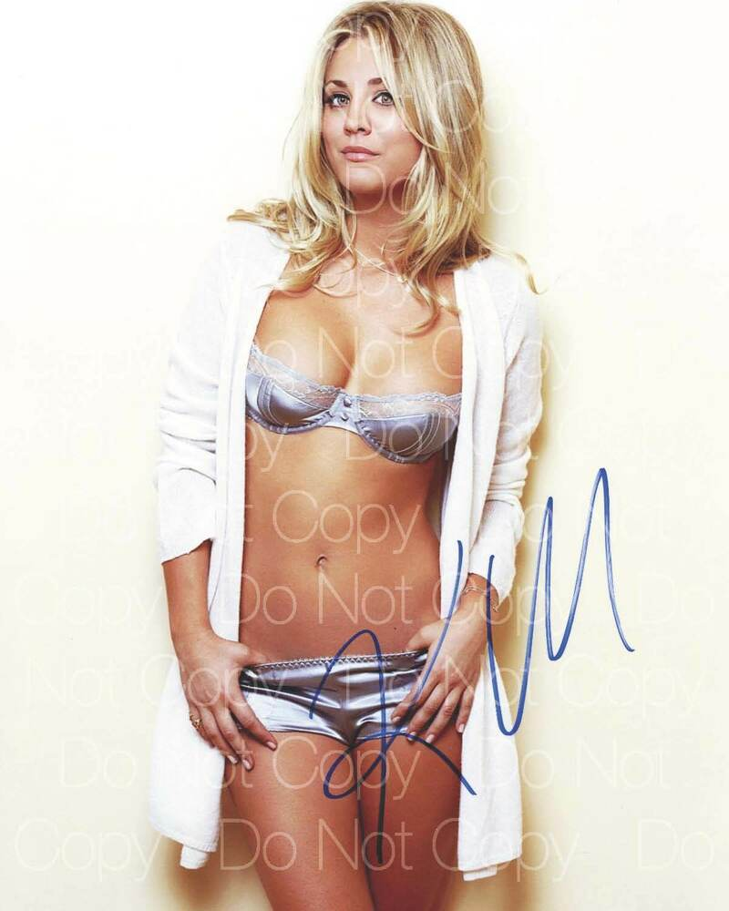 Gorgeous Autograph Signed 8x10 Photo: Kaley Cuoco Signed Sexy Hot Beautiful 8X10 Photo Picture