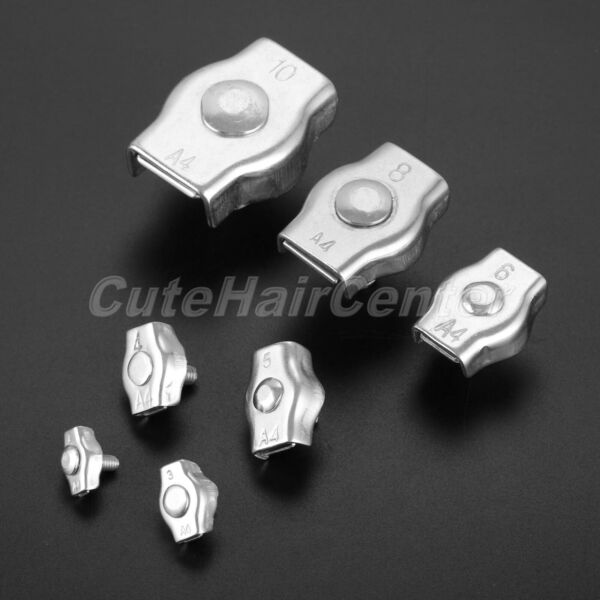 Portable Szie 2mm-10mm Stainless Steel Simplex Bolt Wire Rope Clip Cable Clamp