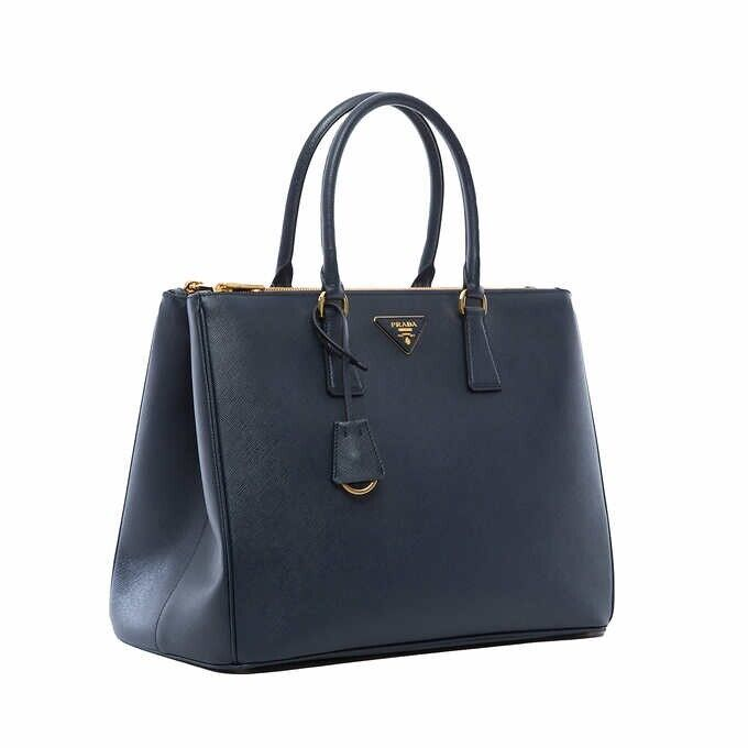 aa45366967a0 Details about New Prada 1BA786 NZV F0216 Large Saffiano Lux Women's Tote  Bag Baltico Navy Blue