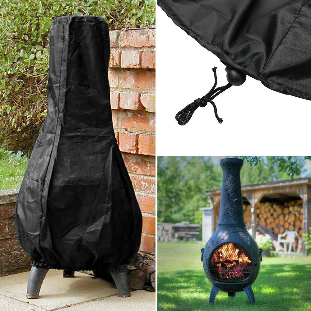 Heavy Duty Large BBQ Chimnea Chiminea Waterproof Rain Protector Cover Outdoor