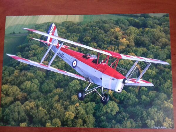 DeHavilland Tiger Moth high quality print - John Dibbs vintage aeroplane photo
