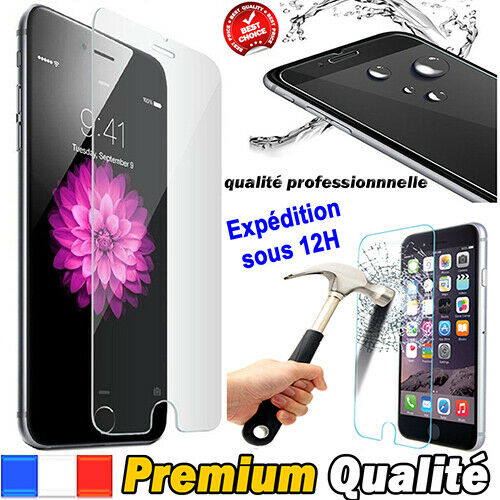 Vitre iPhone 11 X/XS/XR/Max-8-7-SE-6+ 5 protection verre trempé film écran Glass