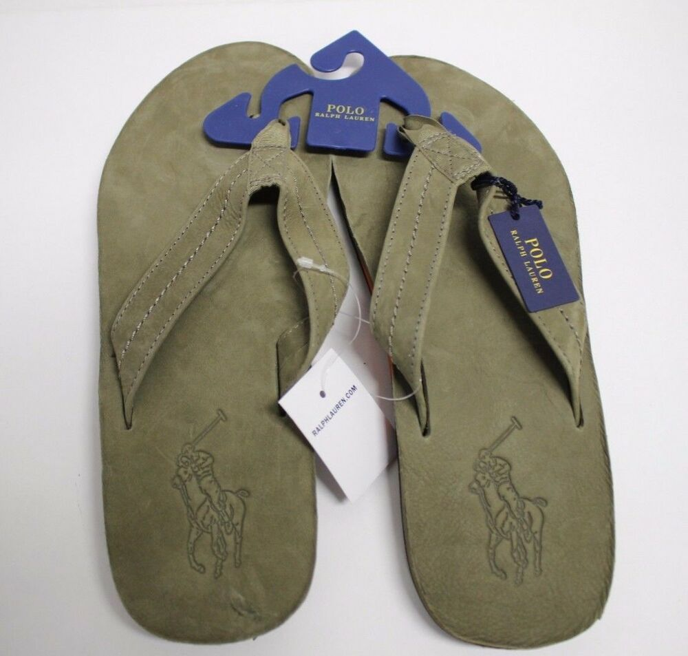 POLO RALPH LAUREN Men/'s WhitleburyII Flip-Flop//Sandals New with Tag