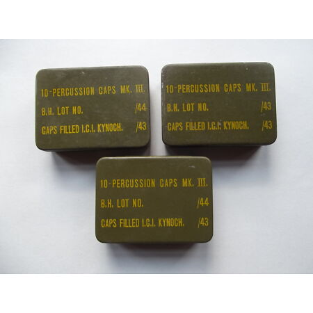 img-WW2 BRITISH ARMY,HOME GUARD, SPECIAL FORCES, PERCUSSION CAP TIN DATED 1943/44