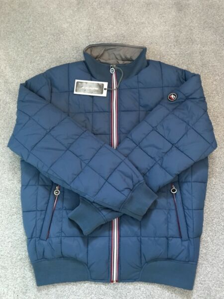 bnwt gents X-Cape PADDED REVERSIBLE jacket XL  42-44 chest in blue
