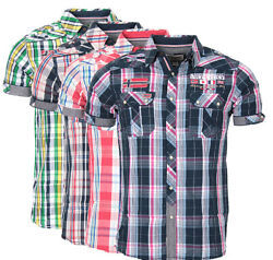 29fe1e49 Geographical Norway men's checked short sleeve t-shirt polo club zartar  slim fit
