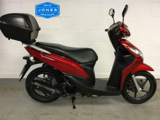 Honda NSC110 Vision 110 Scooter 2013 / 13 - Only 6440  Miles
