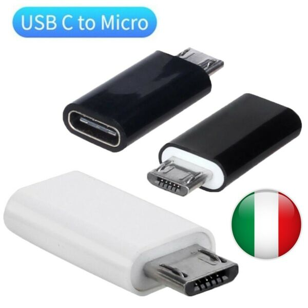Adattatore da Type C Tipo C 3.1 Femmina a Micro USB 2.0 Maschio Adapter Data