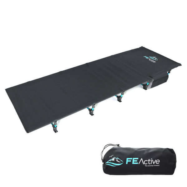 FE Active - Aluminum Cot, Foldable, Lightweight, Compact Ideal Bed for Camping
