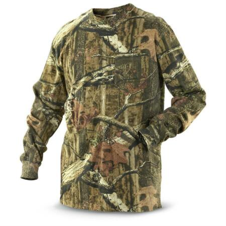 img-Mens Camouflage Camo Real Tree Jungle Forest Print LONG Sleeved T Shirt S-5XL