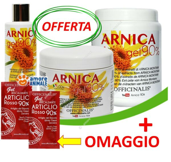 Officinalis ARNICA 90% Gel  10 / 250 / 500 / 1000 ml - Distorsioni muscoli